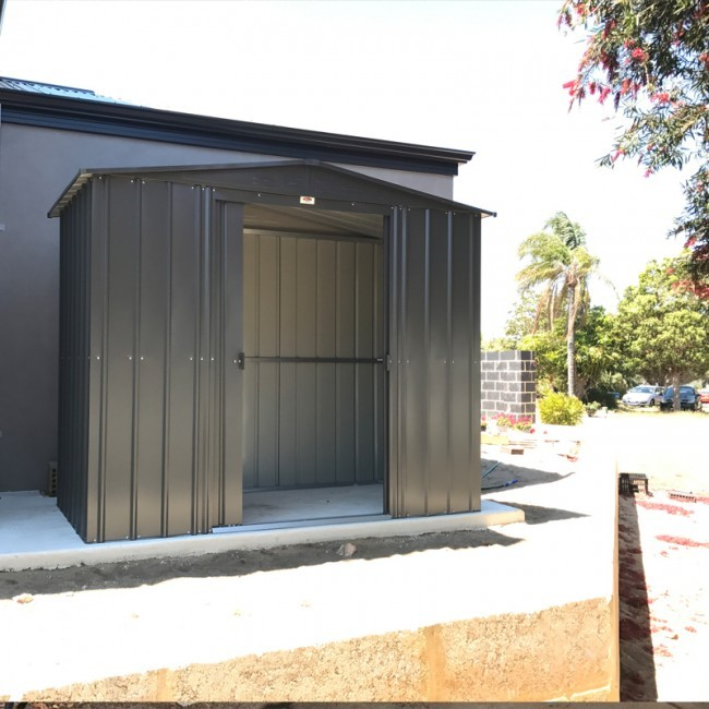 Lotus 8x5 Apex Metal Shed - Anthracite Grey