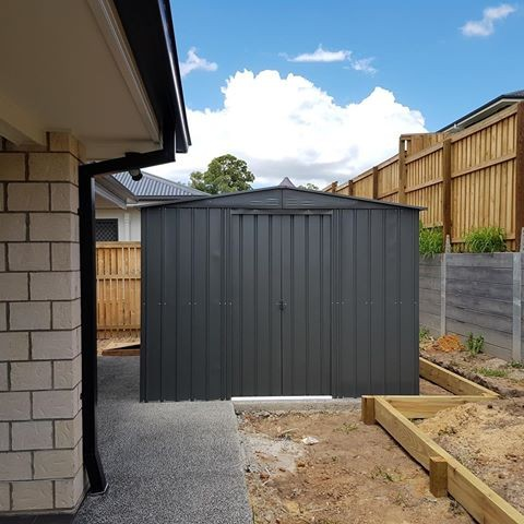 Lotus 10' x 7'  Metal Shed Anthracite Grey