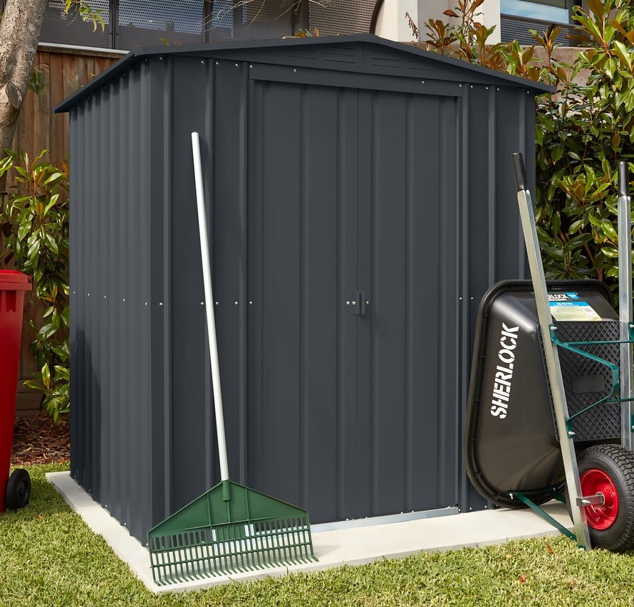 Lotus 6x4 Metal Shed - Anthracite Grey