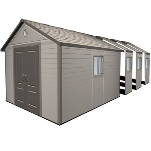 Larger Plastic Outdoor Storage Buildings, Steel Framed UPVC Garden Sheds,  Garages U0026 Workshops