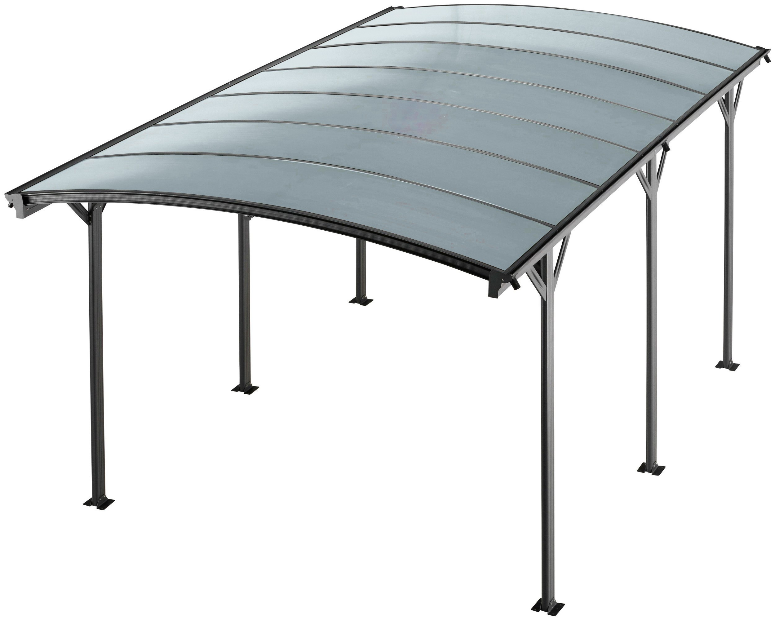 Kingston 10x16 Aluminium Curved Carport